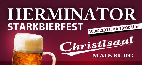Herminator Startbierfest, Christsaal Mainburg