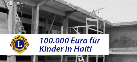 Lions Mainburg helfen Kindern in Haiti
