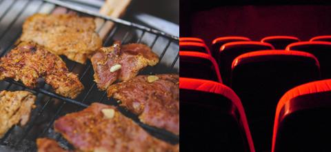 Grillfest und Open Air-Kino