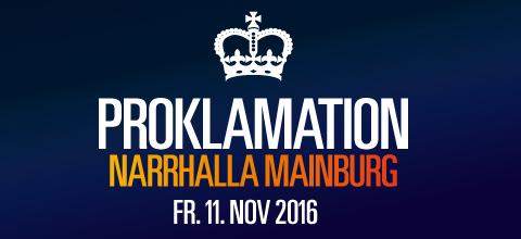 Proklamation Narrhalla Mainburg