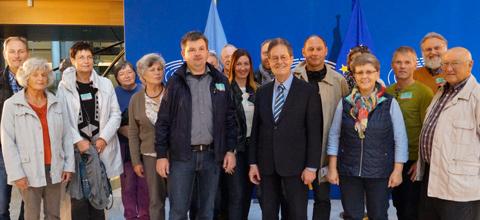 Mainburger unterstützen in Straßburg ihren Europaabgeordneten