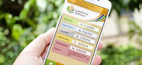Abfallkalender via Smartphone