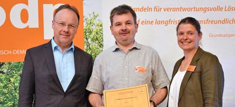 Ehrung für Mainburgs ÖDP-Ortsvorsitzenden Bernd Wimmer