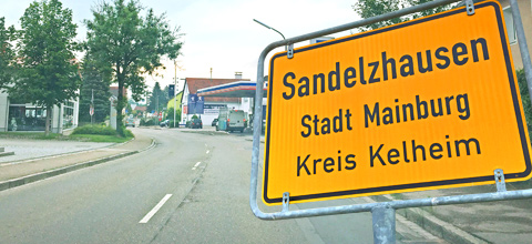 Vollsperrung Ortsdurchfahrt Sandelzhausen