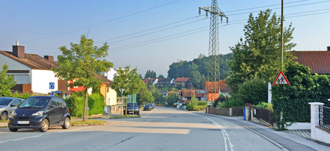 Sperrung Ortsdurchfahrt in Mainburg